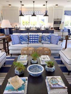 Mark Sikes Coastal Living Idea House blue + white