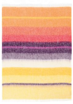 African Bright Stripes throw