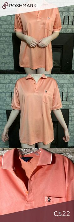 Vintage Men's Salmon Pink/Orange penguin🐧 Polo Plus Fashion, Fashion Tips, Fashion Trends, Tuxedo, Penguin, Vintage Men, Orange Color, Polo Shirt, Man Shop