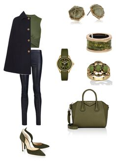 """Untitled #460"" by paty8797 ❤ liked on Polyvore featuring Alice + Olivia, Topshop, Yves Saint Laurent, Givenchy, Alexander White, Michele, Panacea, Palm Beach Jewelry and Bulgari"