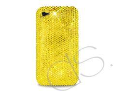 Classic Bling Swarovski Crystal Phone Case - Yellow  http://www.dsstyles.com/iphone-5-cases/swarovski-series-classic-swarovski-crystal-phone-case-yellow.html