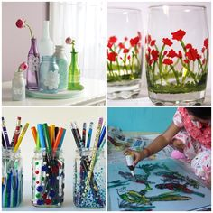 Beautiful decoration for a few minutes? Try painting on glass!
