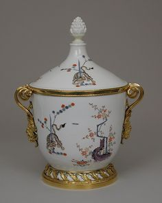 Ice cream pail (one of a pair) Maker: Meissen Manufactory (German, 1710–present) Date: porcelain ca. 1730, mounts ca. 1780–90