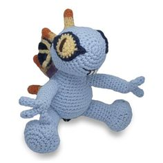 World of Warcraft crocheted baby murloc -- I need to make this.