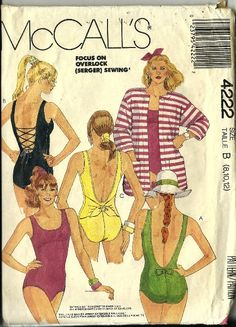 Vintage McCalls Swimsuit Pattern One Piece by TheIDconnection, $45.00