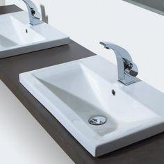 Phoenix Clever White Inset Ceramic 1 Tap Hole Bathroom Wash Basin Sink For Worktop Vanity Unit Shelf Glass Basin, Basin Sink, Bathroom Basin, Steam Shower Cabin, Luxury Toilet, Inset Basin, Bathroom Showrooms, Caravan Renovation, Large Bathrooms
