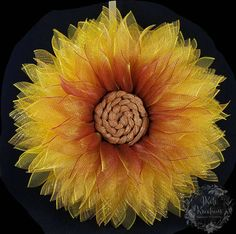 Fall Sunflower Wreath, Mesh Flower Wreath,Fall Wreath,Floral Wreath,Door Decoration,Fall Decor, Flower Decor,Wall Decor,Dahlia,Daisy,Zinnia