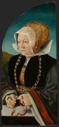 Bartholomäus Bruyn, usually called Barthel Bruyn or Barthel Bruyn the Elder  (1493-1555) — Portrait of Sibilla Kessel, c. 1540  (357×768)
