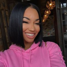 Yaki Straight Bob Wig Glueless Lace Front Wigs for Black Women Natural Black Heat Resistant Fiber African American Wig Best Human Hair Wigs, Remy Human Hair, Weave Hairstyles, Straight Hairstyles, Black Hairstyles, Bob Cut Wigs, Curly Hair Styles, Natural Hair Styles, My Hairstyle