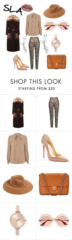 """Busy Bee"" by tritheslaqueen on Polyvore featuring Fendi, L'Agence, Christian Louboutin, Forever 21, Chanel, Michael Kors and Gucci"