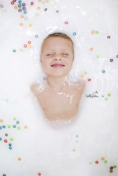 Child milk bath with cereal