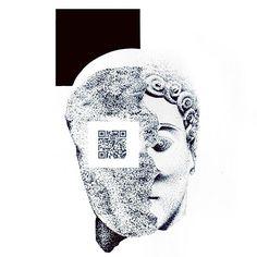 2205 by IoannisVgoudes #sketch #arts_help #deviantart #portraits #dotwork #inflames #artwork