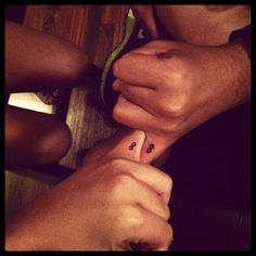 """Infinity tattoos on the inside of the pinky with your best friend as a """"pinky promise"""" to be friends forever"""