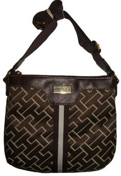 Gotta see this nice Women's/Girl's Tommy Hilfiger Crossbody Handbag (Brown Colossal Brand)