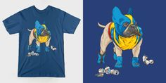 French Bullverine Superhero Dog T-Shirt