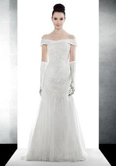 LM   Elegant Off-Shoulder Wedding Dress - Hong Kong   LMR Weddings