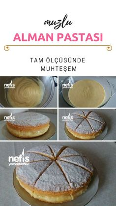 Yumuşacık Muzlu Alman Pastası (Orjinal Tarif) Tarifi nasıl yapılır? #alman #muzlu #pasta