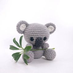 ******PLEASE NOTE: THIS PURCHASE IS ONLY FOR A DIGITAL CROCHET PATTERN, NOT THE FINISHED ANIMAL****** Create your own little koala in just a few hours! This super simple pattern includes one PDF file with detailed instructions on how to crochet and assemble all the parts to make