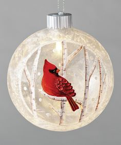 Fabulous Holiday tree ornament, bird houses, cardinal, hand painted on  AS04