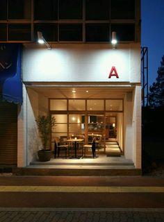 Cafe , shop facade shop facade shop front design, coffee shop design 및 ca. Design Shop, Coffee Shop Design, Shop Front Design, Shop Interior Design, Retail Design, Store Design, Café Exterior, Exterior Design, Craftsman Exterior