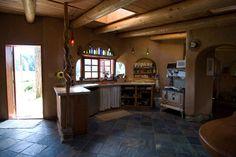 Kitchen in Deaconvale Farms cob house (built by Cobworks)