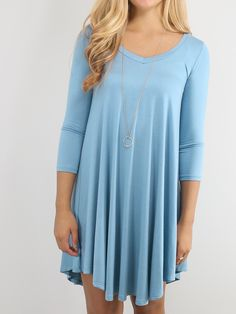 Shop Blue V-Neck Long Sleeve Tshirt Dress online. SheIn offers Blue V-Neck Long Sleeve Tshirt Dress & more to fit your fashionable needs.