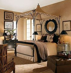 Use a hook in the ceiling to drape onto my four poster bed?