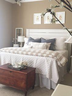 More Master Bedroom Updates - Starfish Cottage Khaki Bedroom, Coastal Master Bedroom, Modern Bedroom Decor, Coastal Bedrooms, Farmhouse Master Bedroom, Coastal Living Rooms, Master Bedroom Design, Trendy Bedroom, Home Bedroom