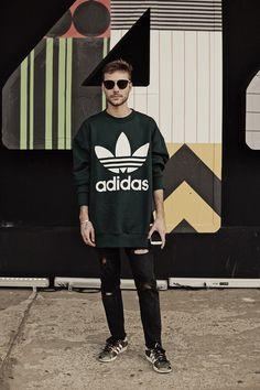 São Paulo Fashion Week. Macho Moda - Blog de Moda Masculina: Os Looks Masculinos do SÃO PAULO FASHION WEEK #SPFWn44, Moda Masculina, Moda para Homens, Roupa de Homem. Moletom Adidas, Adidas Camuflado, Calça Rasgada
