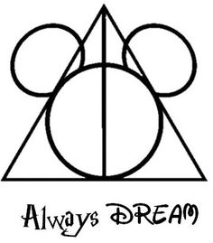 Perfect tattoo design for Disney and Harry Potter fans.