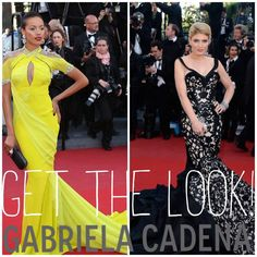 Fashionistas at Cannes Film Festival 2013 are donning styles from Gabriela Cadena, found at Elizabeth Anthony/Esther Wolf
