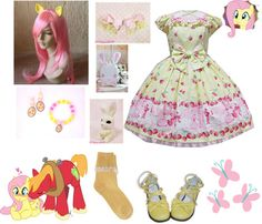 Fluttershy Lolita (My Little Pony Friendship is Magic) Inspired Outfit