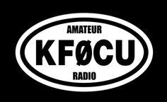 Amateur Radio Vinyl Decal Oval Shape ham radio logo