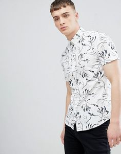 Buy Solid Regular Fit Shirt in Seaweed Print at ASOS. With free delivery and return options (Ts&Cs apply), online shopping has never been so easy. Get the latest trends with ASOS now. Oversized Shirt, Seaweed, Workout Shirts, Fashion Online, Asos, Men Casual, Shirt Dress, Formal, Mens Tops