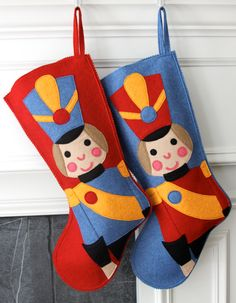 Handmade Wool Felt Christmas Stocking: Celebrate with a Toy Soldier at the Holidays! on Etsy, $74.82 AUD