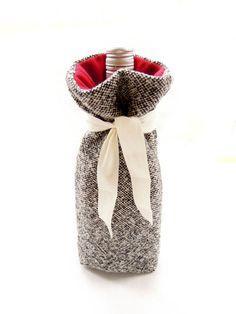 Handmade gifts for men - wine bag