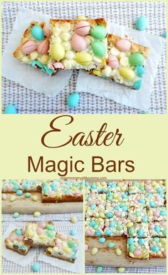 If you are looking for a delicious easy make-ahead treat for Easter dinner this Easter Magic Bars recipe is for you! If you are looking for a delicious easy make-ahead treat for Easter dinner this Easter Magic Bars recipe is for you! Easter Snacks, Easter Appetizers, Easter Brunch, Easter Treats, Easy Easter Desserts, Easter Dinner Recipes, Easter Food, Easter Baking Ideas, Easter Deserts