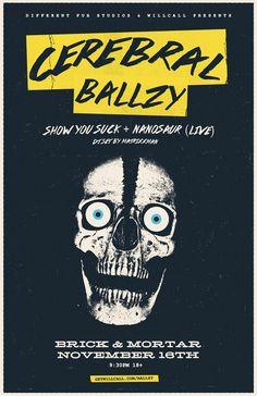 Cerebral Ballzy presented by Different Fur Studios / Show You Suck / Nanosaur    http://getwillcall.com/ballzy