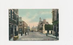 antique postcard of a street view of Carluke, Scotland, 1911 by mudintheUSA on Etsy