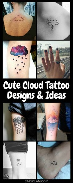 23 Cute Cloud Tattoo Designs and Ideas