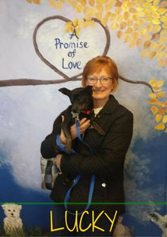 Lucky went to his new, forever home heart emoticon