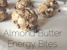 Almond Butter Choc chip Bites- clean eating. maybe when peanut butter cup cravings call?
