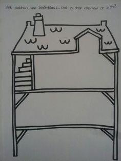 Het pakhuis van de sint, kleurplaat