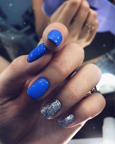 There must be your favorite nail ideas in 140 classic nail designs. - Page 106 of 139 - Inspiration Diary Blue Gel Nails, My Nails, Acrylic Nails, Classic Nails, Dipped Nails, Stylish Nails, Nagel Gel, Creative Nails, Nail Polish Colors