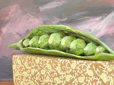 Seeligkeitssachen, Erbsen aus Papiermaché, #peas #papermache #erbsen #skulptur