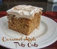 Caramel Apple Poke Cake ~ Edesia's Notebook