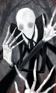 Slender Man by LittleDarkDragon.deviantart.com