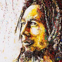 Bob Marley by alita ras Arte Bob Marley, Reggae Bob Marley, Bob Marley Painting, Marley Family, Dancehall Reggae, Reggae Music, Reggae Artists, Robert Nesta, Nesta Marley
