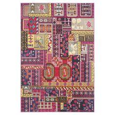 Teppich Cato Woven - Kunstfaser - Mehrfarbig - 154 x 231 cm, Safavieh