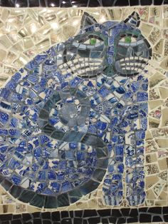 Cat mosaic - detail (by me!)